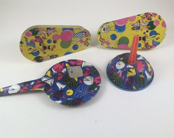 Vintage Party Noisemakers, Tin Toy Noise Makers, Party Noisemakers, 1950s, Mid Century New Years Eve Noisemakers