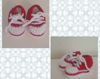Crochet baby shoes - baby gift - 0-3 months - baby shoes - baby shower gift - Crochet shoes - Crochet newborn gift - newborn gift