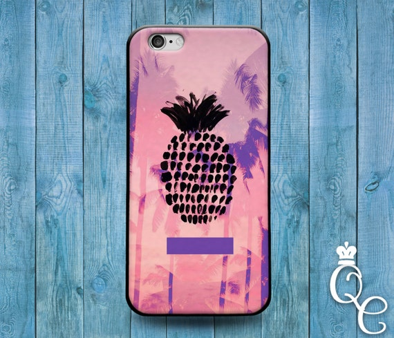 iPhone 4 4s 5 5s 5c SE 6 6s 7 plus iPod Touch 4th 5th 6th Gen Cute Pineapple Fruit Palm Trees Pink Black Purple Girl Cool Phone Cover Case