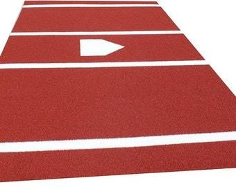 6'X12' Baseball/Softball Home Plate Hitting mat in clay