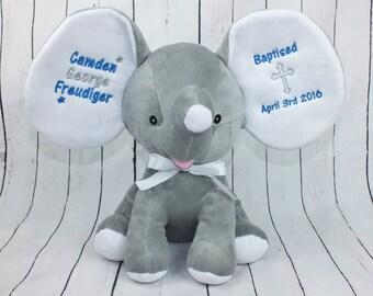 Birth stats elephant baby keepsake personalized elephant baptism gift personalized baptism gift baby keepsake personalized baby gift cubbie negle Images