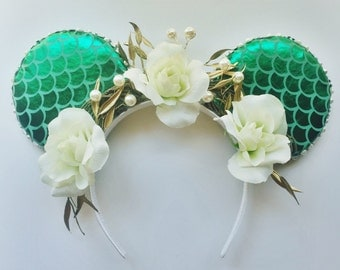 Mermaid Flower Crown Ears