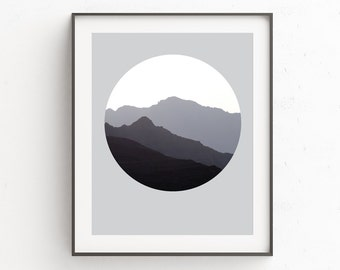 Mountains Range | Monochrome | Landscape Wall Print