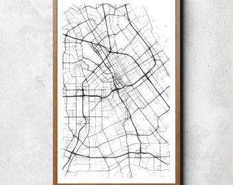 Map of San Jose, San Jose, San Jose art, San Jose map, San Jose print, San Jose decor, San Jose gift, San Jose art map, San Jose poster