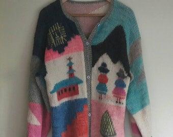 Vintage Woolen Scandinavian Sweater