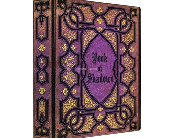 3 Ring Binder, Purple Vines Book of Shadows, 4 Sizes Available!