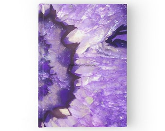 Hard Cover Journal, Purple Agate Geode