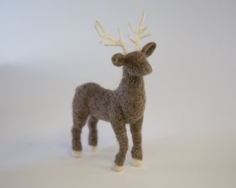 Needle Felted deer Natural Toys Home Decor Christmas gift
