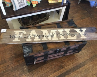 Family/Home 2 sided sign