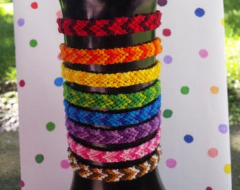 Ombre Chevron Friendship Bracelet