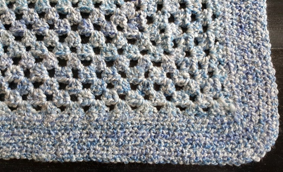 Blue Baby Blanket Free Newborn Hat Included
