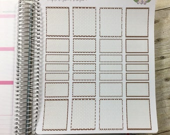 Brown Vertical Life Planner with 4 backgrounds and 3 box sizes