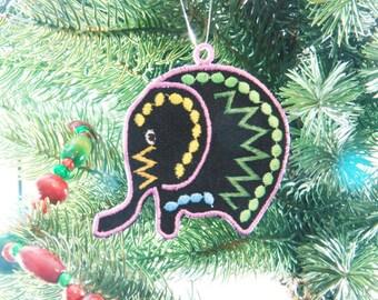 African Ornament, Elephant Christmas Ornament, African Christmas Ornament, African Inspired Ornament, African Elephant Ornament, FSL
