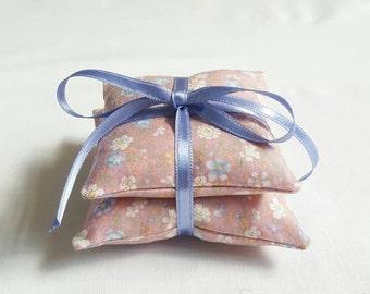 Pink Lavender Cushion Stack, lavender bags, lavender pillows