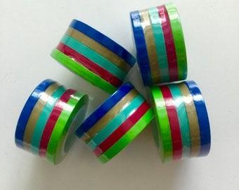 Thin/Slim Washi Tape Set - 5 Rolls