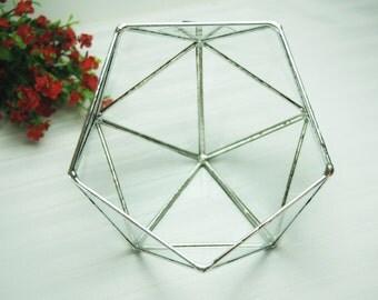 Small Geometric Glass Terrarium / Handmade Glass Planter / Stained Glass Terrarium / Modern Planter For Indoor Gardening /Succulent Planter