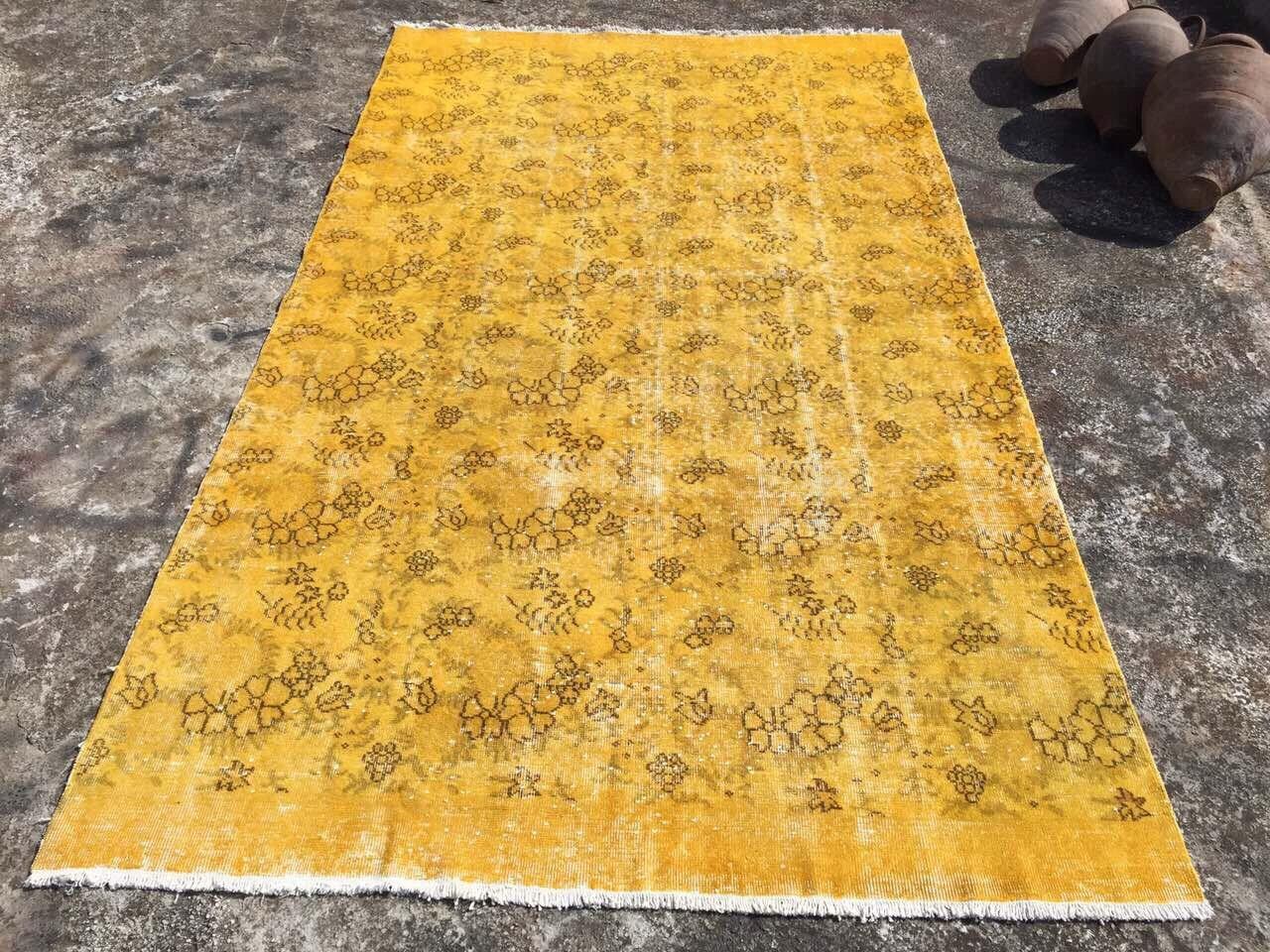 Mustard Area Rug Home Decor