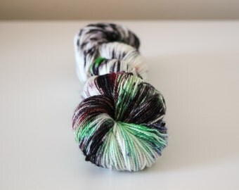 LAST CHANCE! Limited Edition until July 31 - Saltbox Garden - Ballpoint Sock 80/20 superwash merino nylon hand dyed speckled variegated yarn