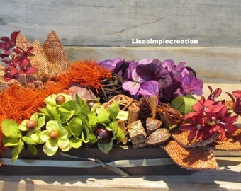 Fall wedding floral centerpiece, Fall floral arrangement,Floral decor, Fall flowers, Fall wedding decor, Fabric flowers decorations,