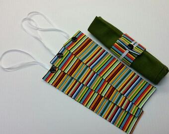 Set of 4 Striped Napkin Rings