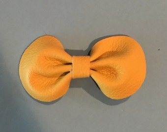 Yellow Leather Bow