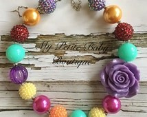Mulit Colored Chunky Bubblegum Bead Necklace