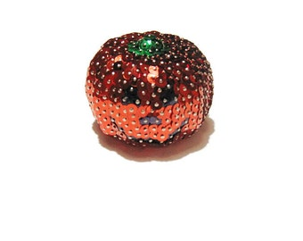 Sequin Ornament, Sequined Pumpkin, Pumpkin Halloween Decoration, Zucca Halloween