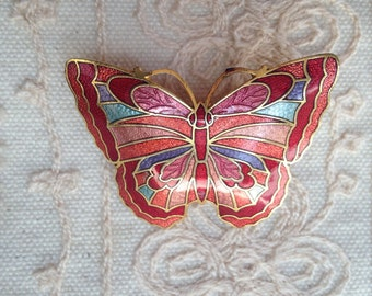 Scarf clips, scarf jewelry, vintage scarf rings, butterfly scarf clips, cloisonne scarf clips, scarf clips, scarf rings, scarf jewelry E39
