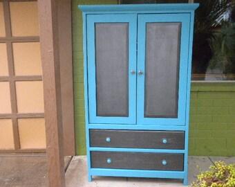 Stunning Seaside blue armoire