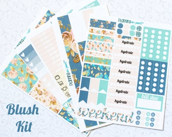 HUGE SALE! Blush Floral Planner Kit (for Vertical Erin Condren Life Planner)