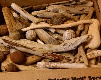 Medium Size Box of Driftwood