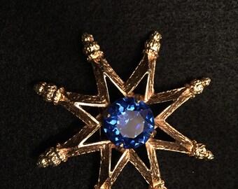 Beautiful Star Brooch Vintage
