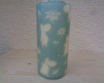 blue moomin candle