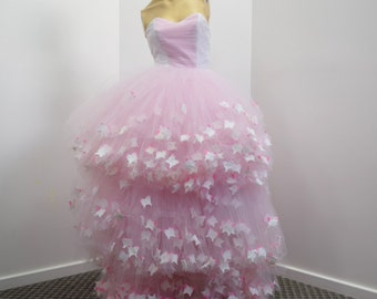 SAMPLE-Pink and white butterfly gown