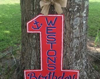 Birthday Number Door Hanger