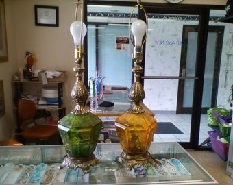 Pair of 1960's Table Lamps