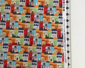 Houses Fabric by the Yard-Dear Stella patt#stella-80