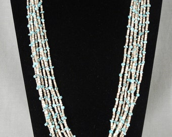 Museum Vintage Navajo Turquoise Necklace Old
