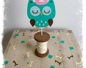Owl Cake Topper-Customizable