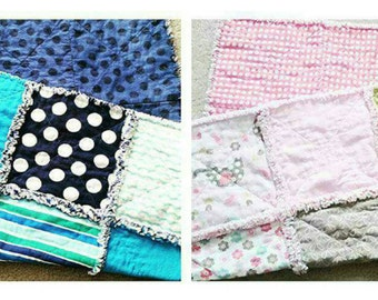 Custom Baby Rag Quilts