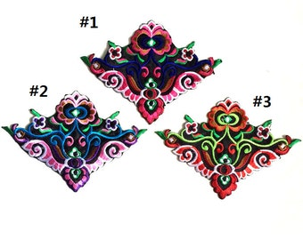 Chinese Embroidered Flower Pattern Applique Patch,Retro floral designs Patch,Decorations Patch