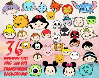 Disney tsum tsum  - Clip Art - PNG - transparent - 300dpi - party - printable