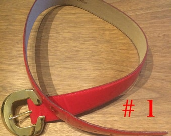 Red Vintage Belts