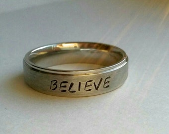 Believe Ring, believe, inspirational ring, inspirational jewelry, inspiring, motivational jewelry, Jesus ring, religious ring, religious