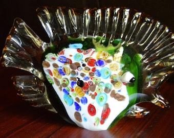 Murano Art Glass Millefiori Fish