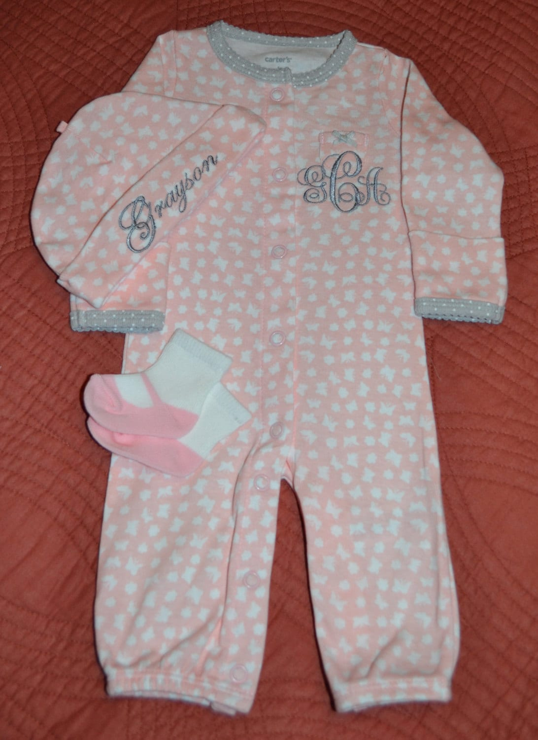 Personalized Baby Girl Going Home Outfit Baby Girl