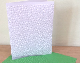 MINI BUBBLES 6 Embossed Cards (No.118) - Pack of 6 - Blank Cards - Notelets - Note Cards - Thank You Card - Birthday Card - Bubbles Cards