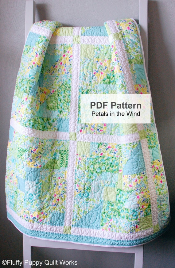 PDF Quilt Pattern, Quilt Pattern, Lap Quilt Pattern PDF, Quilt Pattern PDF, Nine Patch Modern Quilt Pattern, Coloring Page, Full Size Quilt