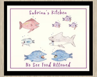 Kitchen Wall Art, Funny Kitchen Art, Personalized Kitchen Art, Kitchen Gift, Nautical Wall Art,  Personalized 8x10, Personalized Print Gifts
