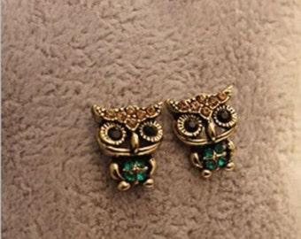 Cute Owl Stud earrings Retro Style